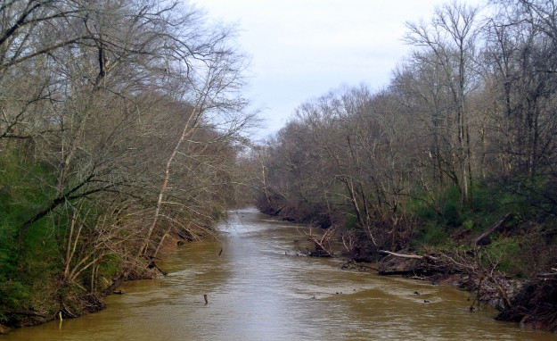 - Rocky River at Hagler's ford during high water.
