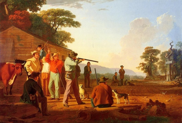 Shooting for the Beef - George Caleb Bingham