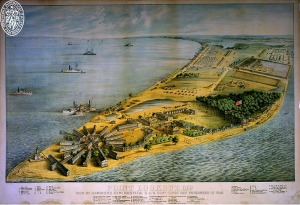 H201 Point Lookout, Maryland. Lithograph by E. Sachse & Co., 186