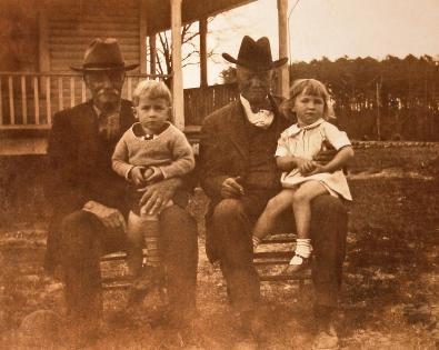 (left to right) Uncle Bud Love, Mumpford's Van Love, John Ephraim Love. my mother