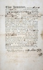 Indenture of James Thomas to his brother Joseph Thomas to learn the trade of joinery