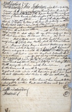 Indenture of Joseph Thomas to David Turner to learn the trade of cabinetmaking and joinery