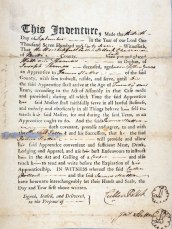 Indenture of William Thomas to James Slatter to learn the trade of cooper