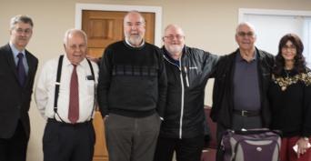 (l-r) George Thomas, Russell Palmer, Keith Hunter, Daniel Thomas, Darryl Hunter, Rhonda Hunter