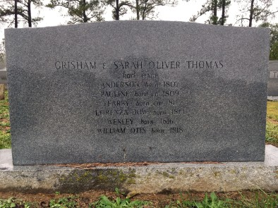 Grave of Grisham Thomas at Broadway Town Cemetery