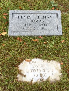 Grave of Tillman Thomas at Baptist Chapel Church