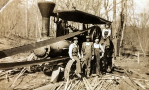 Steam powered saw mill likely at the Narrows Dam Project site