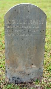 Grave of Joshua Allen Burris at Love's Grove UMC