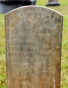 Grave of Mary Polly Whitley Burris at Love's Grove UMC